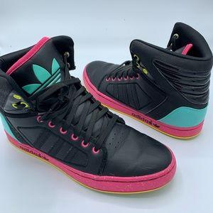 Adidas High EXT G65908 Mens Black Pink Teal Size 9